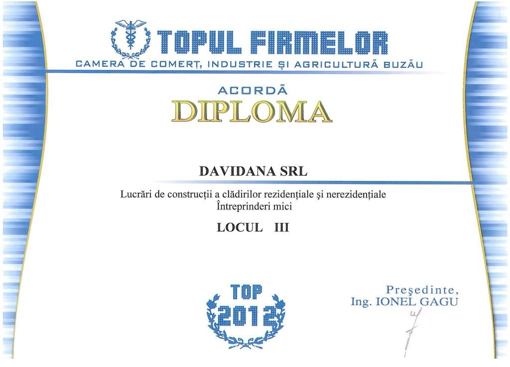 Topul firmelor Camera de Comert 2012